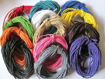 5 or 10 metres of  2mm  Thick Solid Colour Cotton Bakers Twine  Choice of Colours